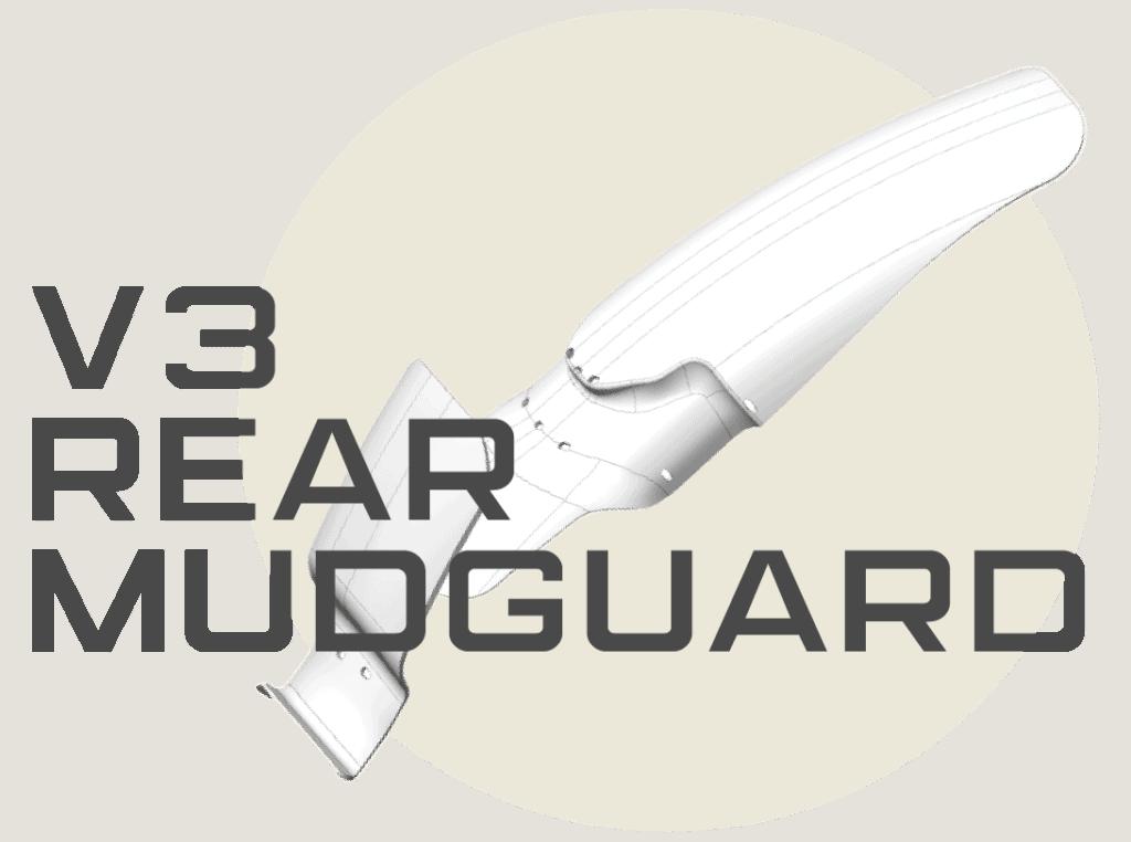 v3 rear mudguard